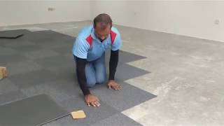 Carpet Tile Installation - How To Install Carpet Tile With Glue
