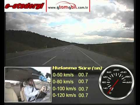 Test Hyundai Accent Blue 1.4 CCVT Manuel (0-100 Km/s, 100-0 Km/s)