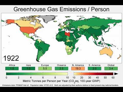 Map of Greenhouse Gas Emissions per Person