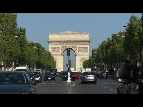 People on the Champs-Elysées react to shooting of police officer