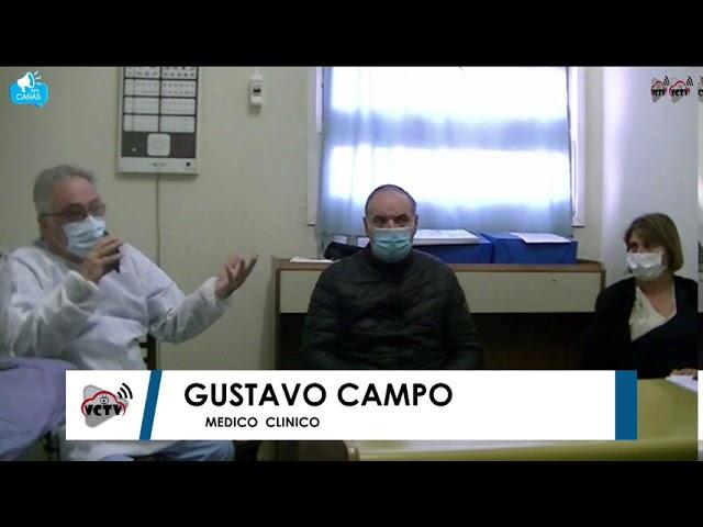 Norberto Gizzi - Sandra Guerrini - DR Gustavo Campo - Confirman el 1° Caso de Villa Cañás