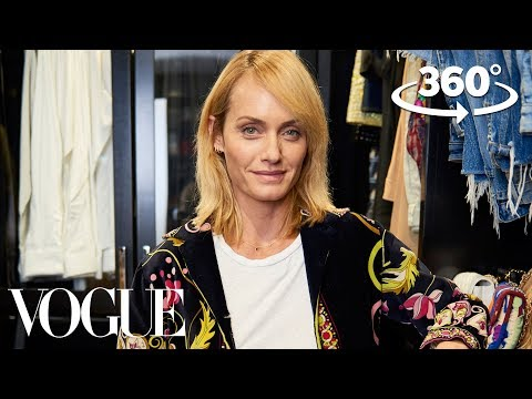 Supermodel Amber Valletta Takes You on a 360° Tour of Her Closet  Supermodel Closets  Vogue