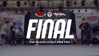 TEAM MALAYSIA VS EAST RIDER CREW | Final Crew | Indonesia Bboy Championship 2018