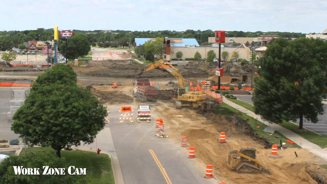 Minnesota DOT Highway 22 Mankato Roundabouts Time-Lapse