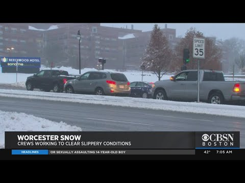 7 Inches Of Snow Falls In Worcester In First Storm Of Season