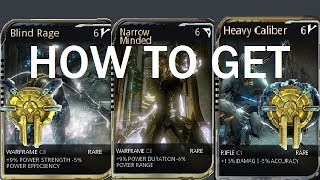 Warframe - How To Get Corrupted Mods (Orokin Vaults)