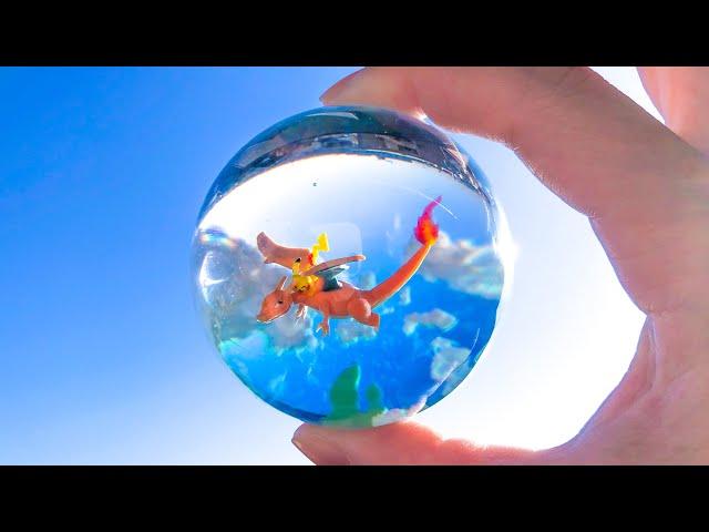 【粘土】空をゆくピカチュウ 作ってみた【ポケモン/レジン】Pikachu Sky Resin - Polymer Clay