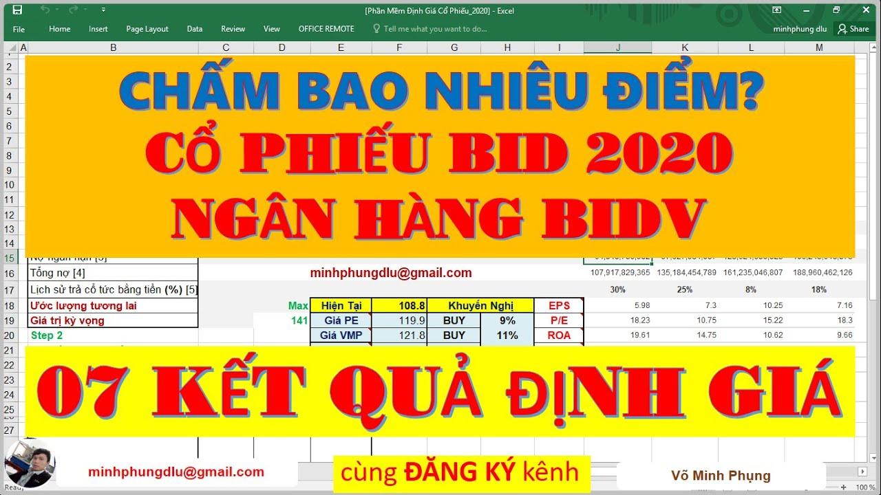 ĐẦU TƯ CHỨNG KHOÁN || Cổ Phiếu Ngân Hàng BIDV (BID) năm 2020