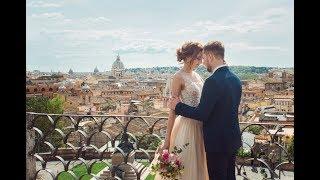 Свадьба в Европе. Италия. Рим. 3 апреля 2017