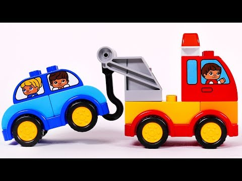 Thumbnail: Tow Truck Cars and More Toy Vehicles Building with Lego Duplo Playset for Children