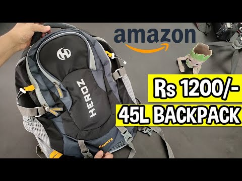 HEROZ Hammer Unisex 45L Travel Laptop Backpack | Review (Hindi)