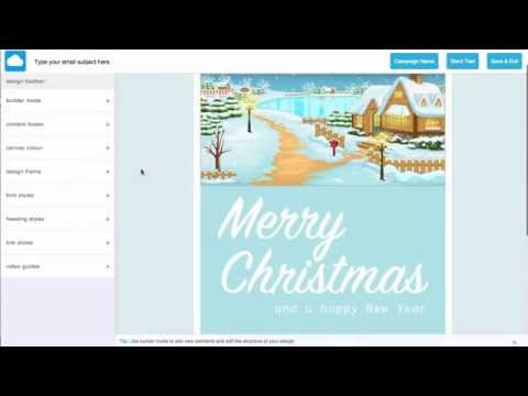 How to create your Chirstmas eCard in minutes with Email Blaster