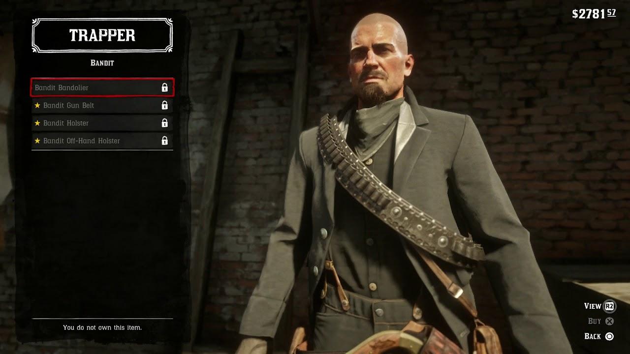Red Dead Redemption 2 Trapper Master Explorer Hunter Holsters