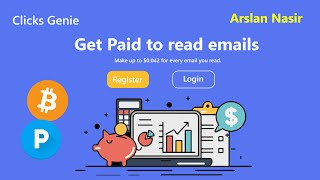 Clicks Genie | Get Paid To Read Emails - Earn Free Bitcoin & Usd 2020 | Earn $100 Daily Urdu Hindi