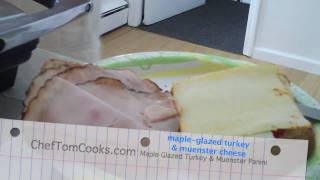 Making Maple Glazed Turkey & Muenster Panini In 12 Seconds!