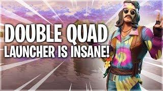 DOUBLE QUAD LAUNCHER IS INSANE - 10 Kill Solo Win - Fortnite Battle Royale
