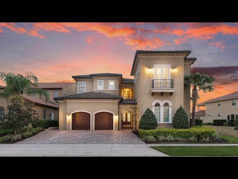 Check out Reunion Resort 134, a huge 8-bedroom luxury villa near Disney World in Orlando, Florida.