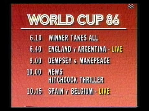 Anglia Continuity & Adverts plus World Cup 86 - 1986