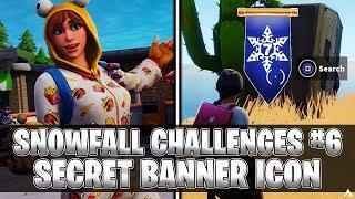 SECRET BANNER ICON! Week 6 Snowfall Challenges (Fortnite Season 7)