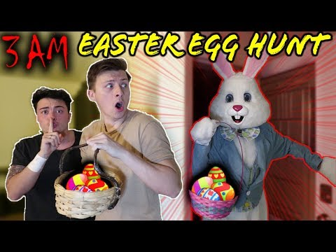 THE EASTER BUNNY BROKE INTO OUR HOUSE DURING AN EASTER EGG HUNT AT 3 AM!!!