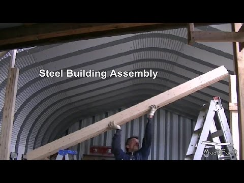 Steel Building Assembly 1315  Making the Garage Door Header  YouTube