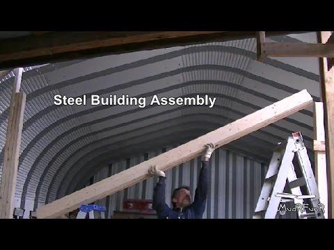Steel Building Assembly 13 15 Making The Garage Door