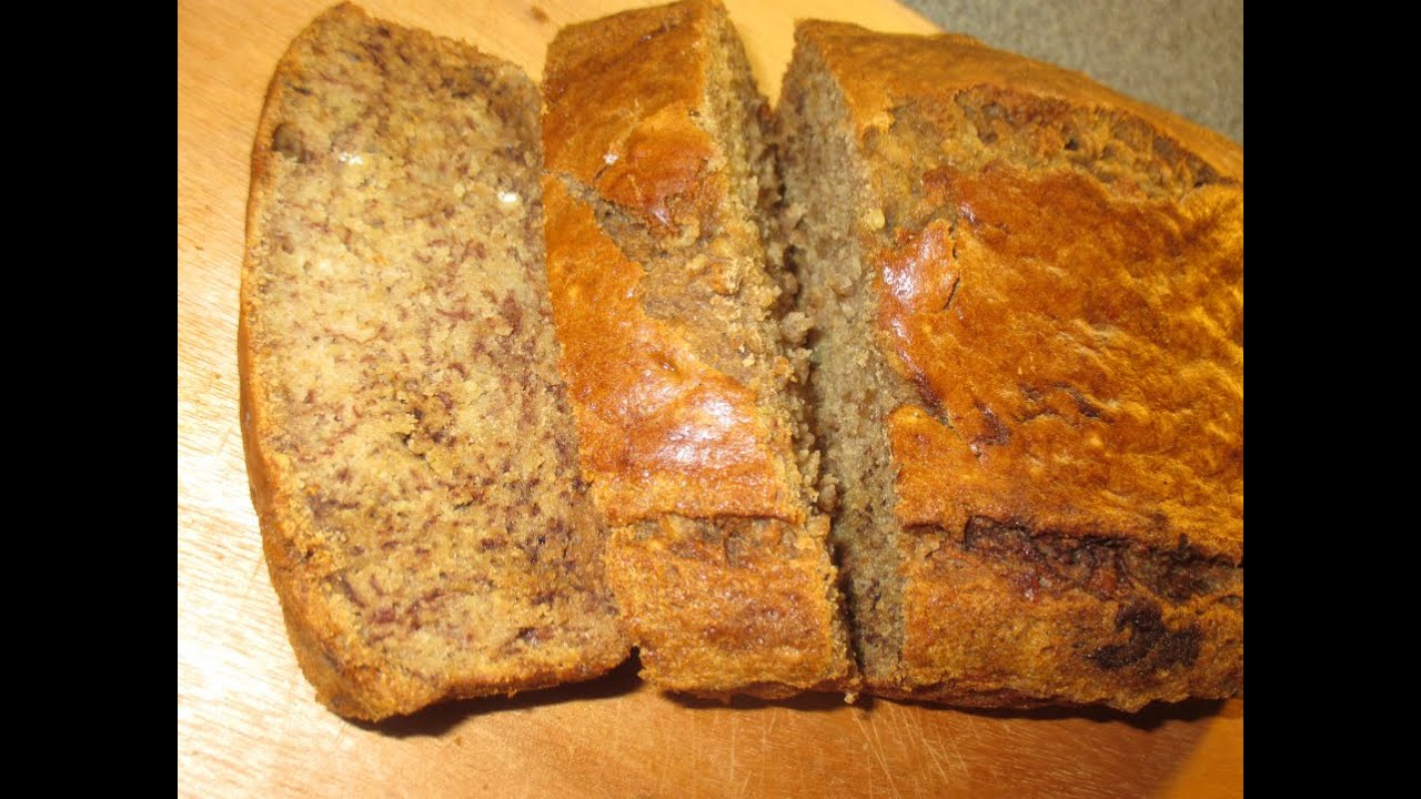 How To Make Jamaican Banana Bread Recipe 2015 Youtube