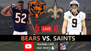 Chicago bears vs. new orleans saints 2020 nfl week 8 live stream, play-by-play, highlights, stats & instant reaction comes to you from now! fox...