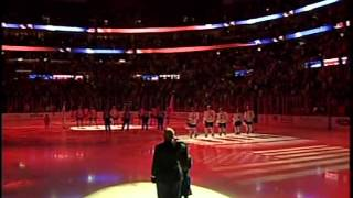 Juliette Sings National Anthem at Panthers Game