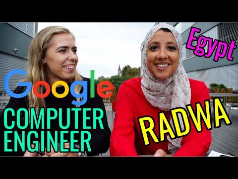 Radwa the FEMALE COMPUTER ENGINEER and GOOGLER from Egypt // Women in STEM Fields