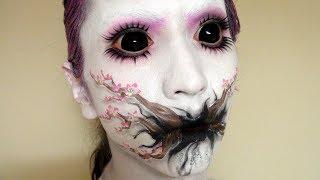 【メイク】アイメイク変えてみた!?桜の木メイク方法(化粧) Cherry Blossom Tree Makeup Tutorial
