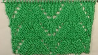 0236-узор Ёлочка.Вязание спицами. Pattern .Knitting with needles