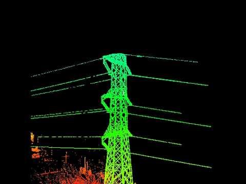 EPC - Rilievo Laser-scanner Traliccio alta tensione - YouTube