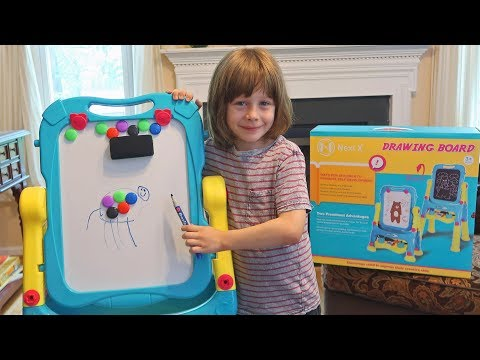 nextx-standing-art-easel-⭐chalk-board-dry-erase-double-sided🖍-toy-review😊