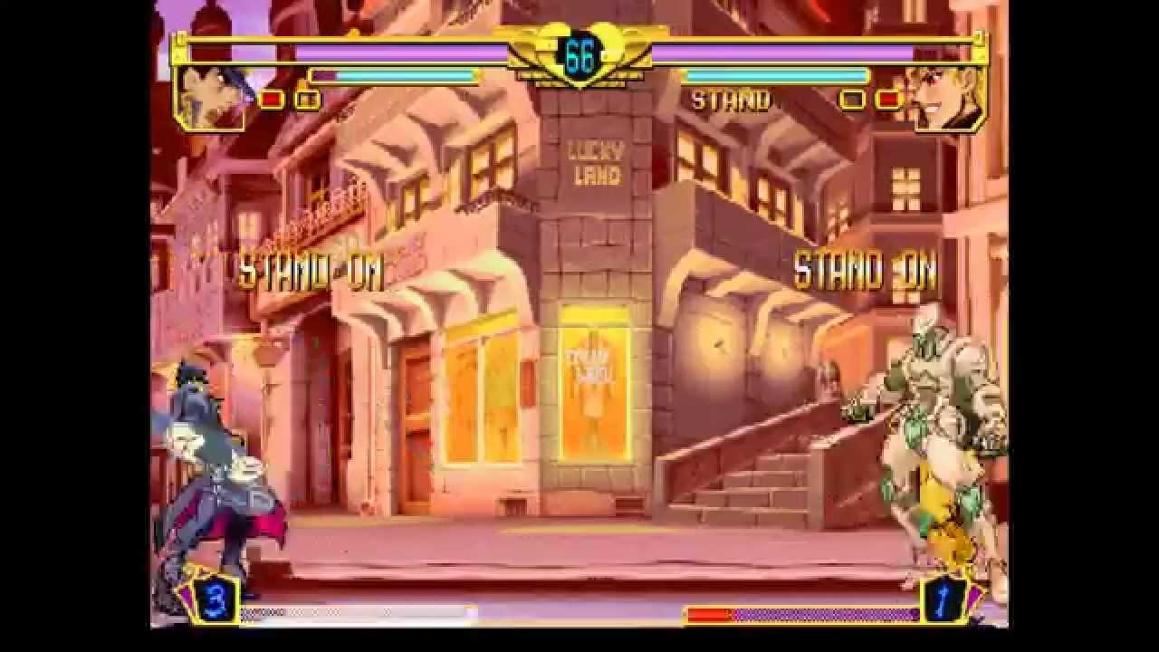 Jojo's Bizarre Adventure @ Fightcade - Kain-W (Jotaro) vs Cy002 (Dio)  [720p/60fps]