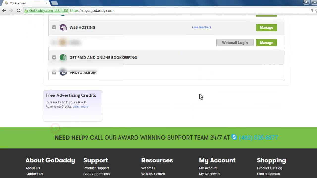 Adding new domain to your Godaddy webhosting account