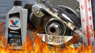 Valvoline SynPower 4T 10W40 Jak skutecznie olej chroni silnik? 100°C