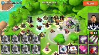 Boom Beach Dr Terror All Stages - My NEW Record!