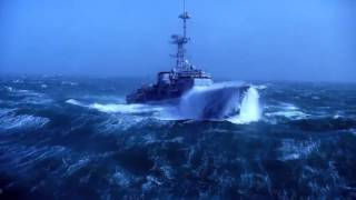 Страшный шторм 10 баллов в океане