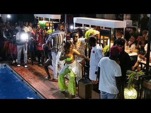Download FULL VIDEO: MOESHA+POOL+KALYBOS +CELEBRITIES AT Away Bus pool party