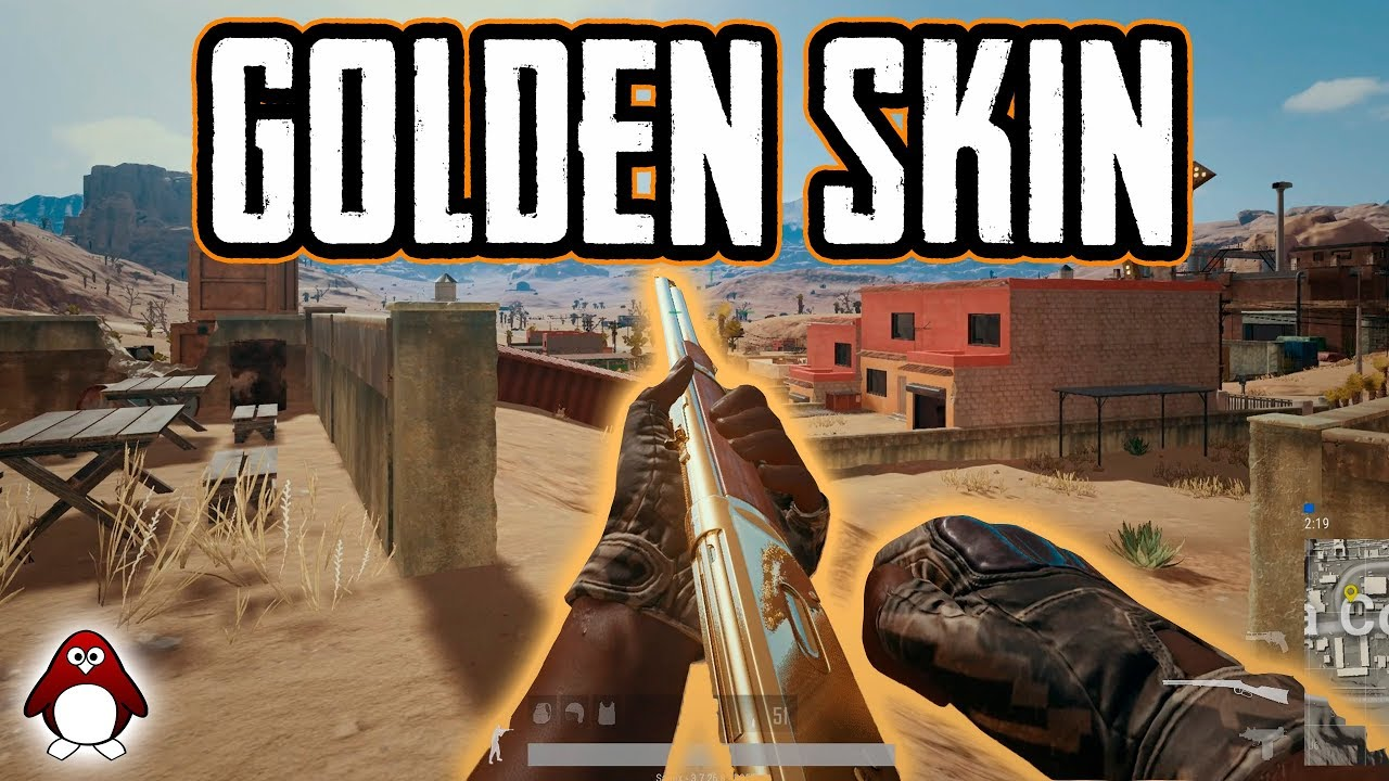Pubg Weapon Skins In Trifecta Rugged Gold Plate Play