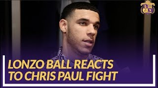 Lakers Nation Interview: Lonzo Ball Reacts to Rajon Rondo-Chris Paul Fight