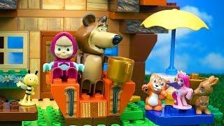 🐻 Masha e Orso 🐻 tutti gli episodi , Mascia e Orso si divertono in piscina, Mascia e cavalli