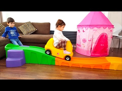 Thumbnail: Roller Coaster ride for kids- Pink Princess Tent