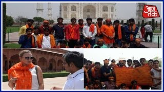 Scarf Row: Hindu Outfits Stage Protest Outside Taj Mahal