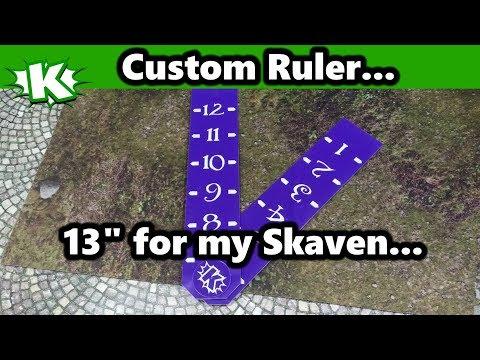 Custom 13 Inch Skaven Ruler