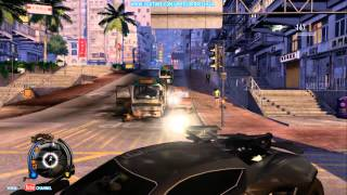 Sleeping Dogs NEW Car With Dual Chain guns ( Wheels Of Fury DLC Pack Gameplay )