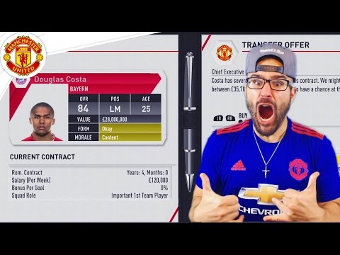 $200,000,000 FOR NEW PLAYERS! Manchester United FIFA 17 Career Mode #01