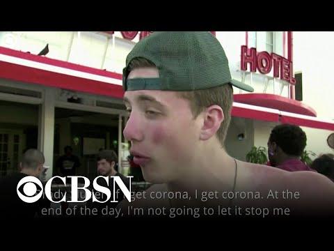 Spring-breakers express frustration over coronavirus precautions in Miami