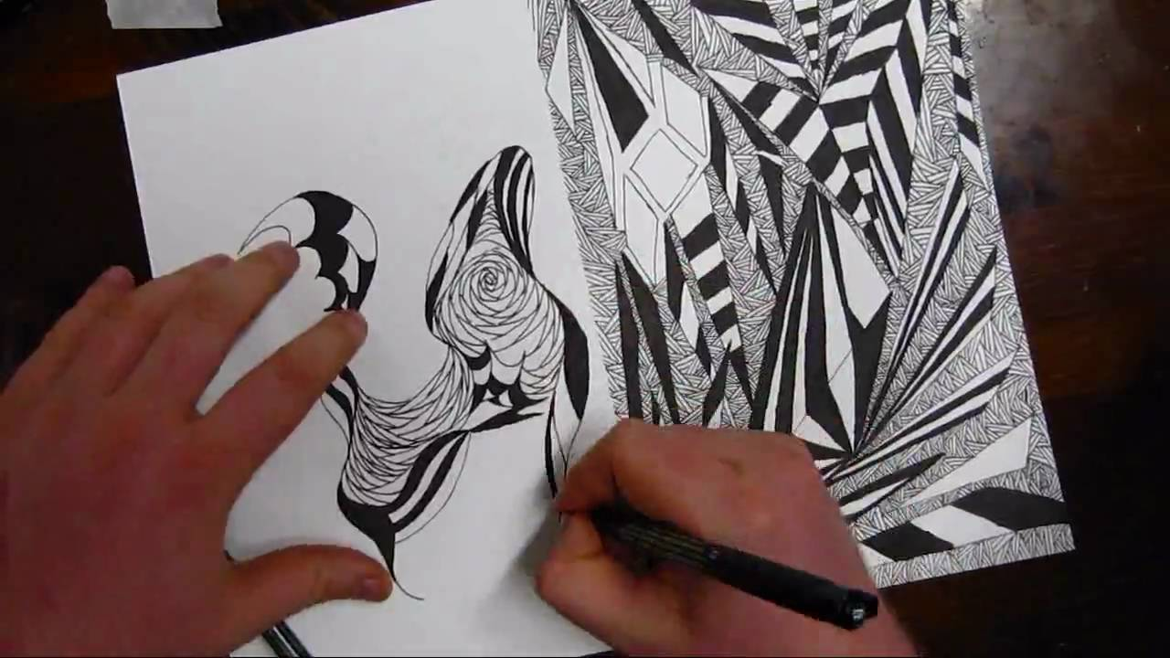 Curved Lines In Art : Drawing practice curved and straight lines youtube